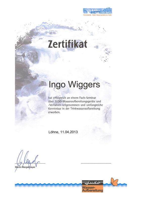Zertifikate - Wiggers GmbH Meisterbetrieb